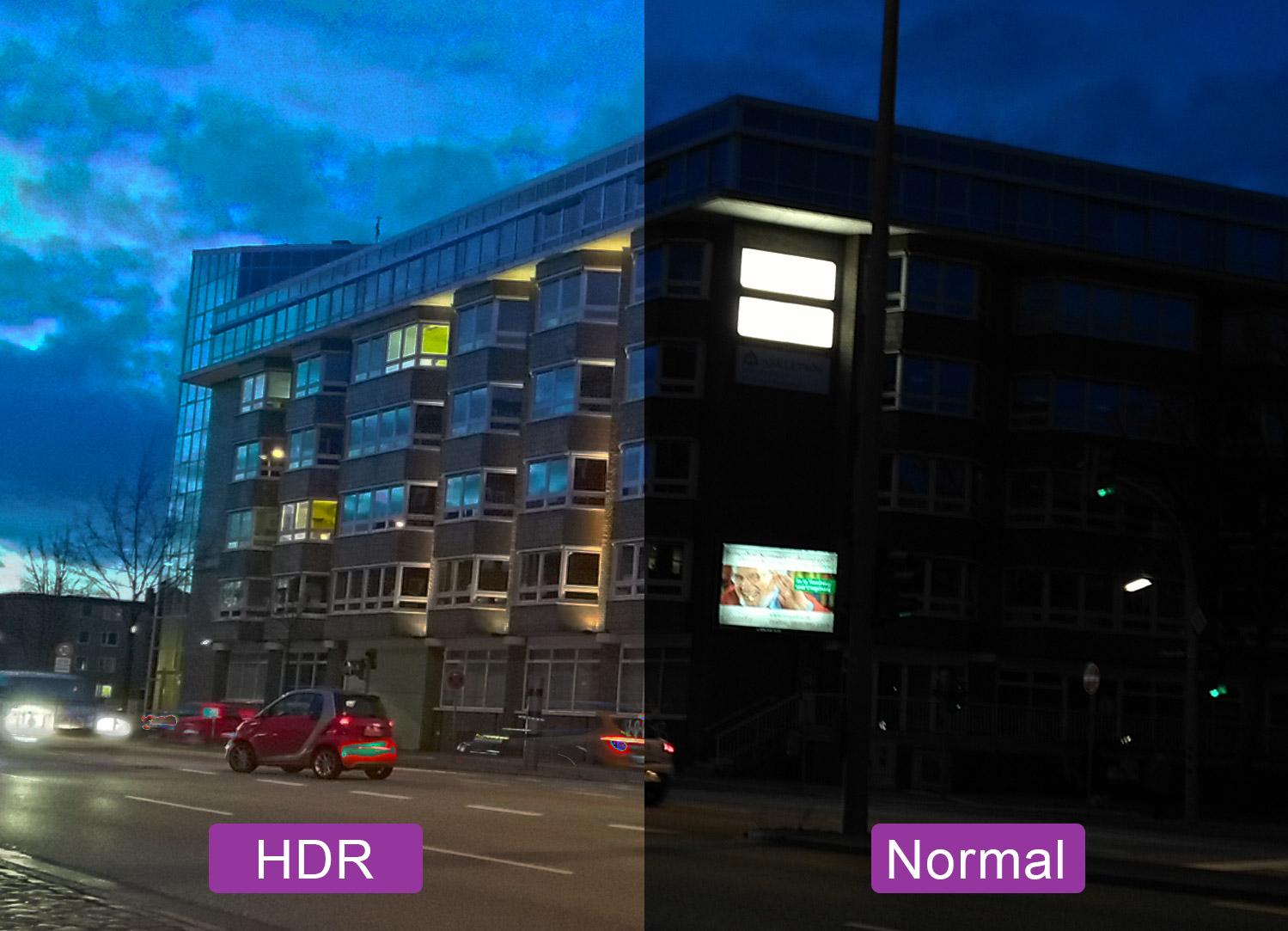 HDR-Modus auf Smartphone